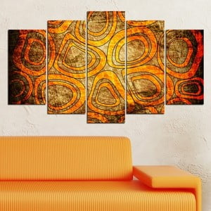 5dílný obraz Abstraktní kruhy