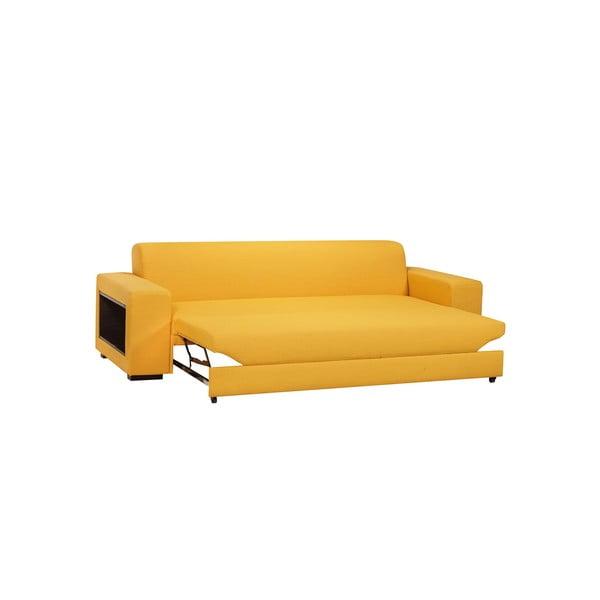 Rozkládací pohovka A-Maze 245 cm, žlutá
