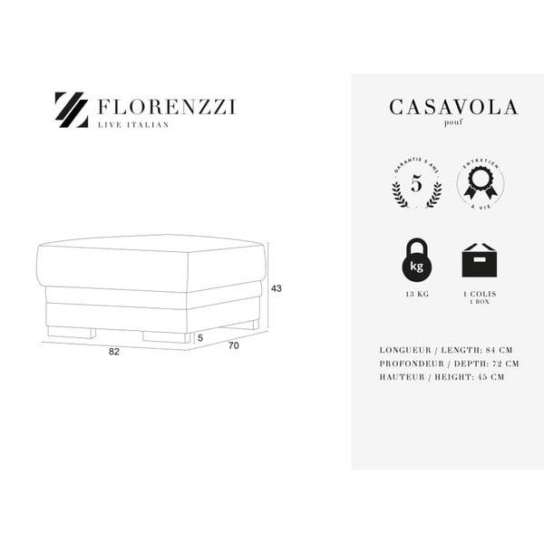 Světle šedá podnožka Florenzzi Casavola
