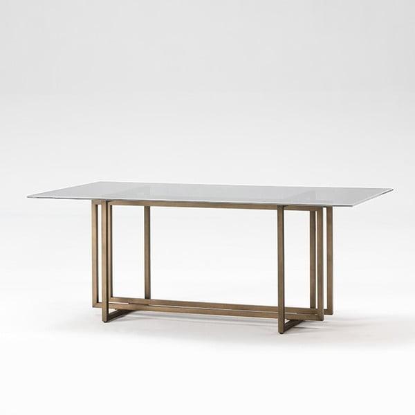 Jídelní stůl ze skla a kovu Thai Natura Booze, 190 x 100 cm