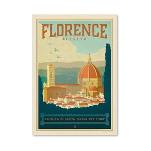 Plakát Americanflat Florence Italia, 42 x 30 cm