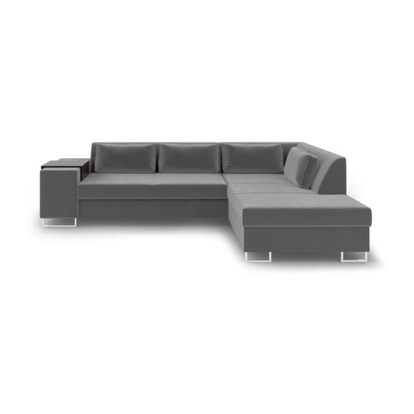 San Antonio szürke kinyitható kanapé, jobb oldali - Cosmopolitan Design