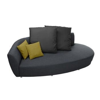 Canapea cu trei locuri Florenzzi Viotti Light Anthracite/Yellow spătar pe partea stângă