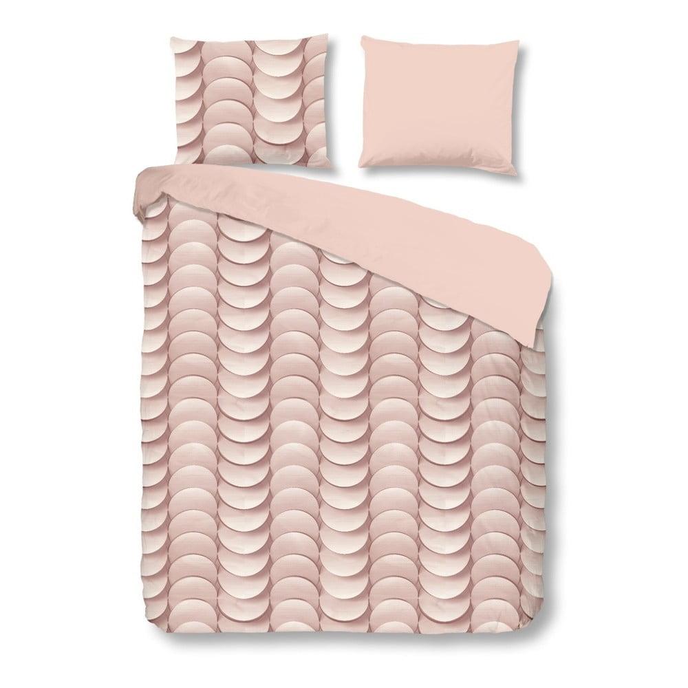 Růžové bavlněné povlečení na jednolůžko Muller Textiel Emerged,140x200cm
