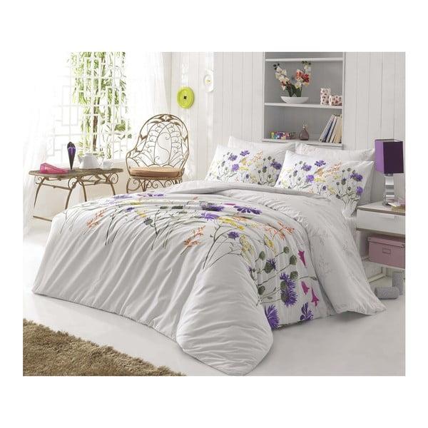 Lenjerie de pat cu cearșaf şi 2 feţe de pernă Nergis, 200x220cm