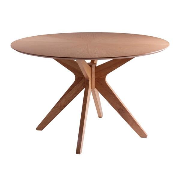 Stół do jadalni w dekorze drewna dębowego sømcasa Carmel, ⌀ 120 cm