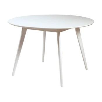 Masă din lemn de mesteacăn Rowico YuRAi , ∅115cm, alb imagine