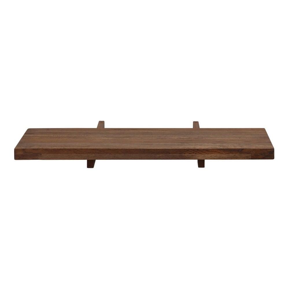 Deska k prodloužení tmavě hnědého jídelního stolu z masivního dubového dřeva Støraa Matrix