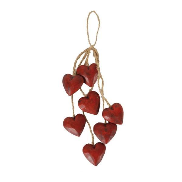 Red Heart fából készült felakasztható dekoráció - Antic Line