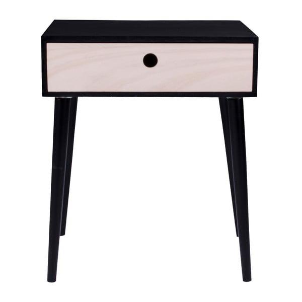 Parma fekete fa tárolóasztal, fekete vázzal - House Nordic