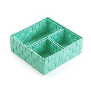 Sada 4 úložných košíků Versa Green Pastel
