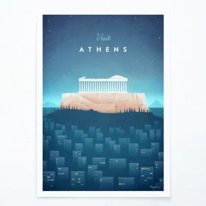Poster Atena Travelposter Athens, A3