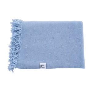 Pătură din cașmir Casa Di Bassi, 130 x 190 cm, albastru