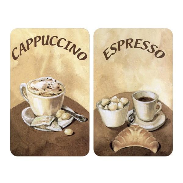 Sada 2 skleněných krytů na sporák Wenko Coffee