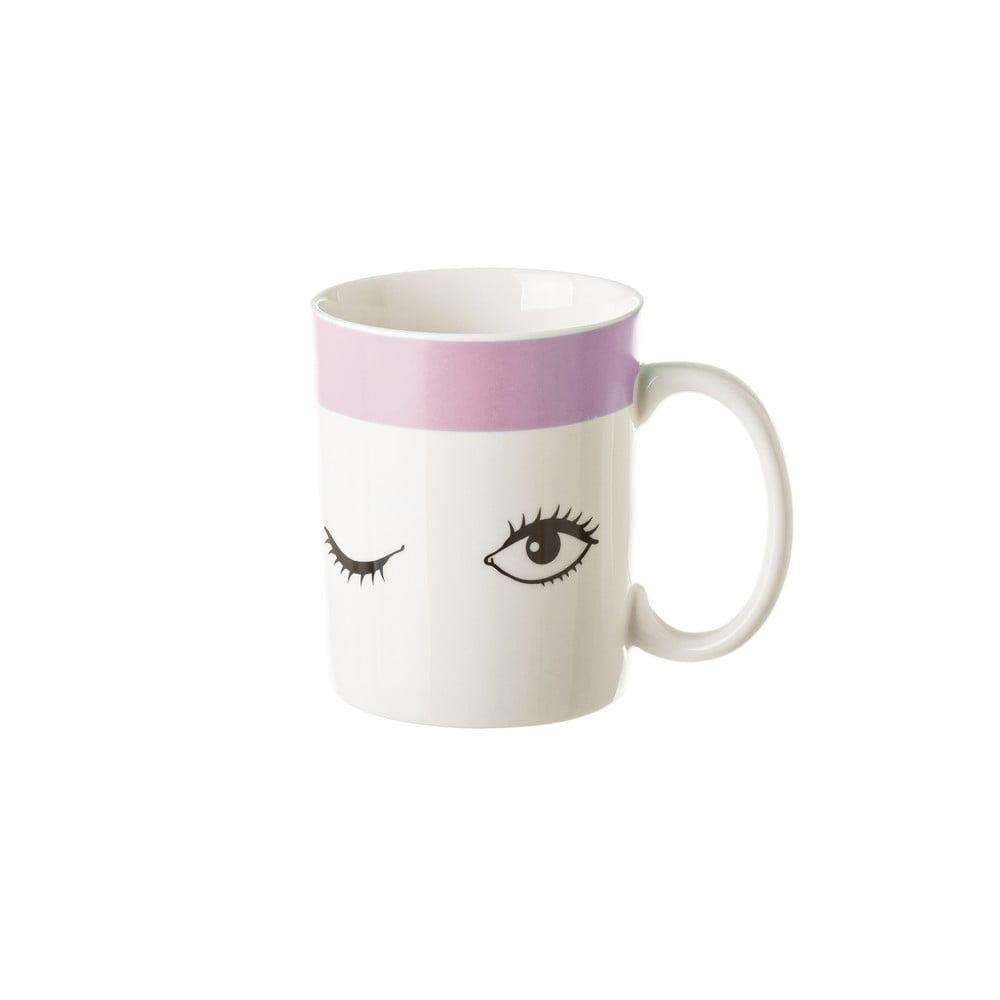 Porcelánový hrnek Unimasa Pink Dreameyes, 310ml