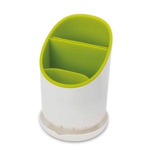 Bílo-zelený odkapávací stojánek na příbory a kuchyňské nástroje Joseph Joseph Dock