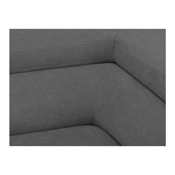 Světle šedá rozkládací rohová pohovka Windsor & Co Sofas Gamma, pravý roh