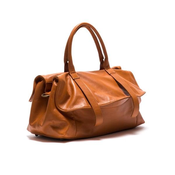 Kožená kabelka Anna Luchini 2043 Cognac