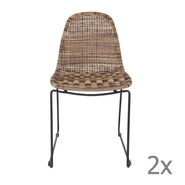 Sada 2 židlí West Naturel
