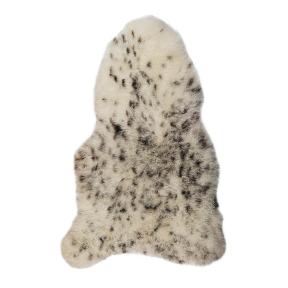 Černobílá ovčí kožešina s krátkým chlupem Spotted, 90 x 60 cm