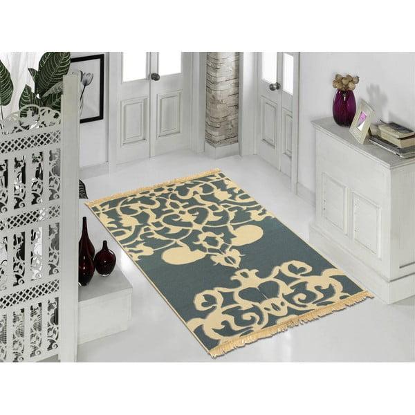 Modrý koberec Floorist Agac Blue Beige, 60x90cm