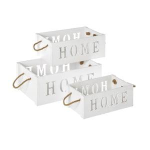 Sada 3 úložných boxů Unimasa Home