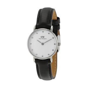 Dámské hodinky s černým páskem Daniel Wellington Sheffield Silver, ⌀26mm