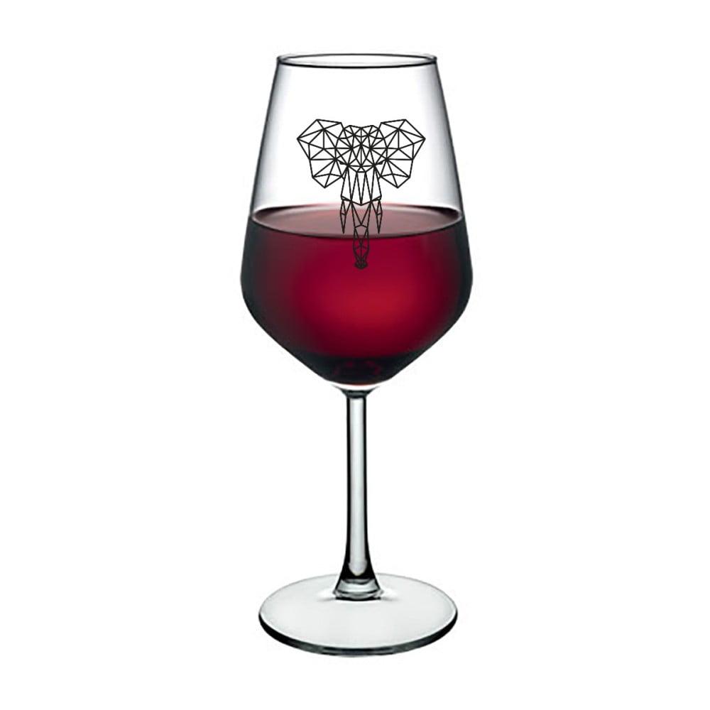 Sklenice na víno Vivas Polygonal Elephant, 345 ml