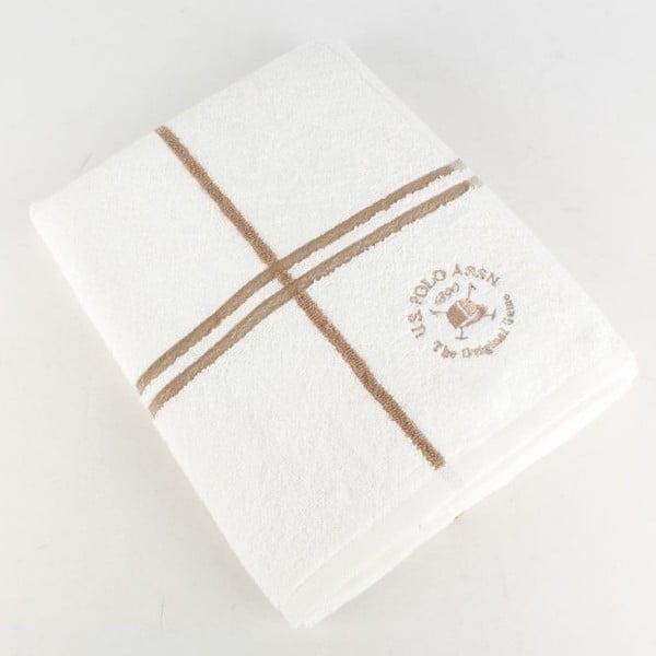 Osuška U.S. Polo Assn Bath Towel White and Gold, 70x140 cm