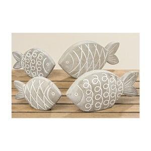 Sada 2 kameninových dekorací ve tvaru ryby Boltze Pesces