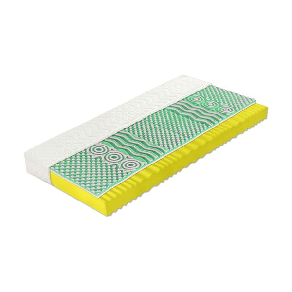 Saltea cu spumă rece Tropico Paula Soft, 140 x 200 cm, înălțime 20 cm