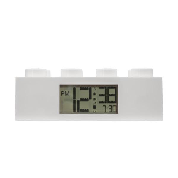 Brick fehér digitális ébresztőóra - LEGO®