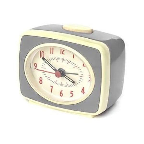 Ceas deșteptător Kikkerland Classic, gri