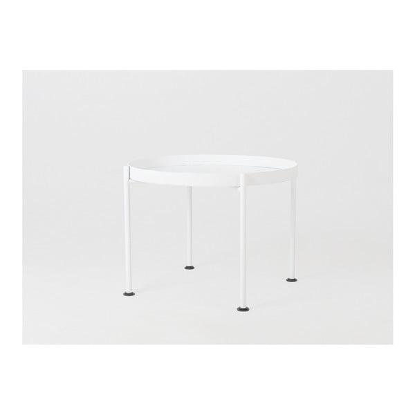 Masă auxiliară Custom Form Hanna, ⌀ 60 cm, alb