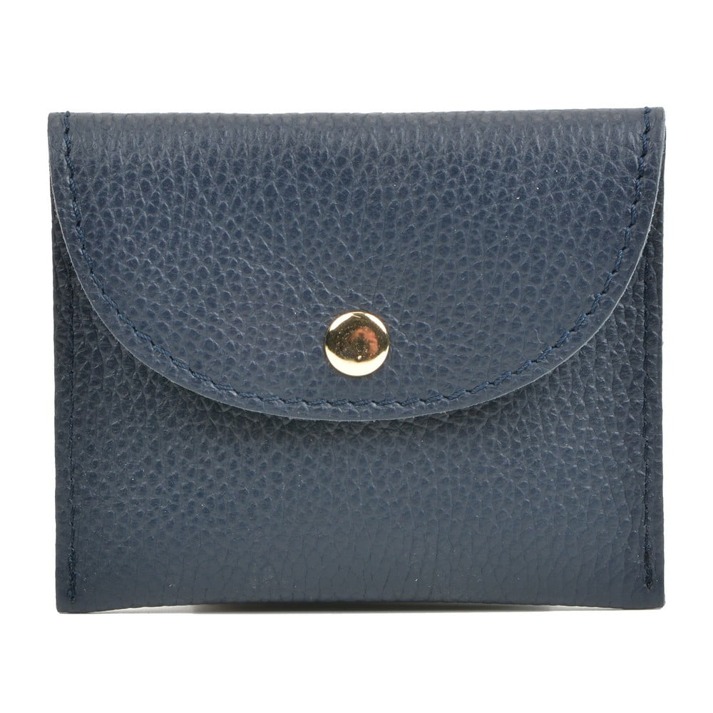 Tmavě modrá kožená peněženka Sofia Cardoni
