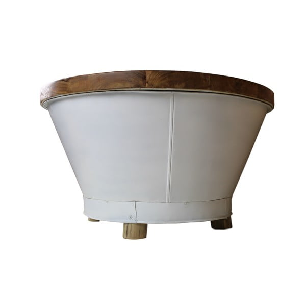 Konferenční stolek s deskou z teakového dřeva HSM collection Bucket