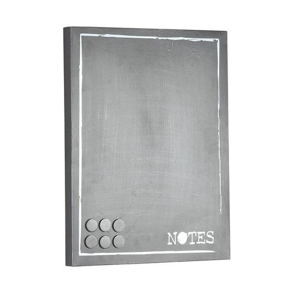 Šedá kovová nástěnka na vzkazy LABEL51 Memo