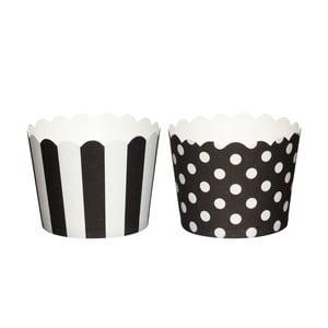 Sada 20 papírových košíčků na muffiny Black Sweetly Does It