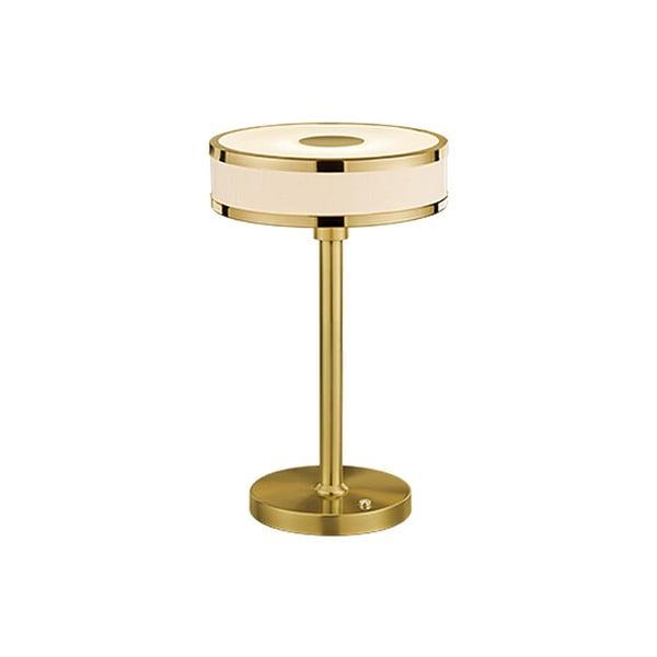 Stolová LED lampa v zlatej farbe Trio Agento, výška 32 cm