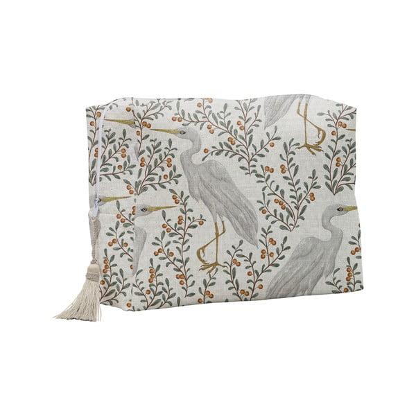 Kozmetická taštička Linen Couture Flamingo
