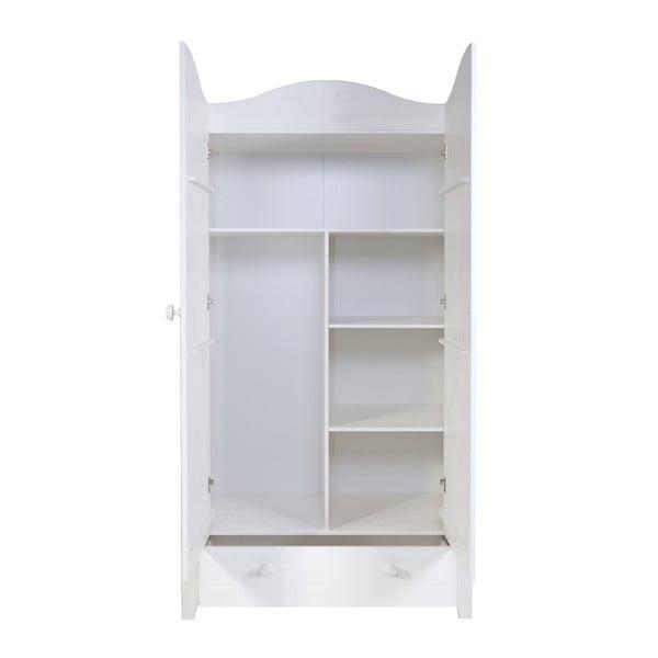 Dvoukřídlá skříň Joy, bílá