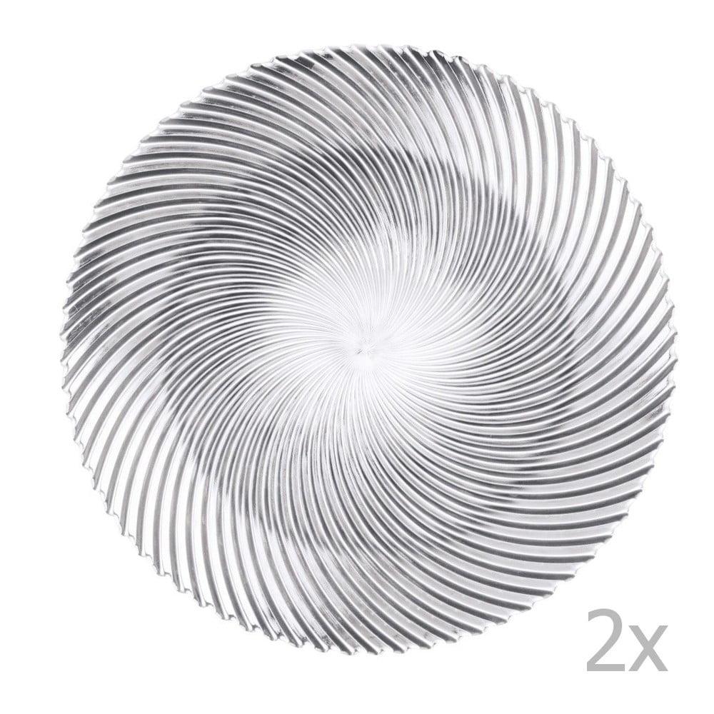 Sada 2 velkých talířů z křišťálového skla Nachtmann Dancing Stars - Samba, ⌀ 32 cm