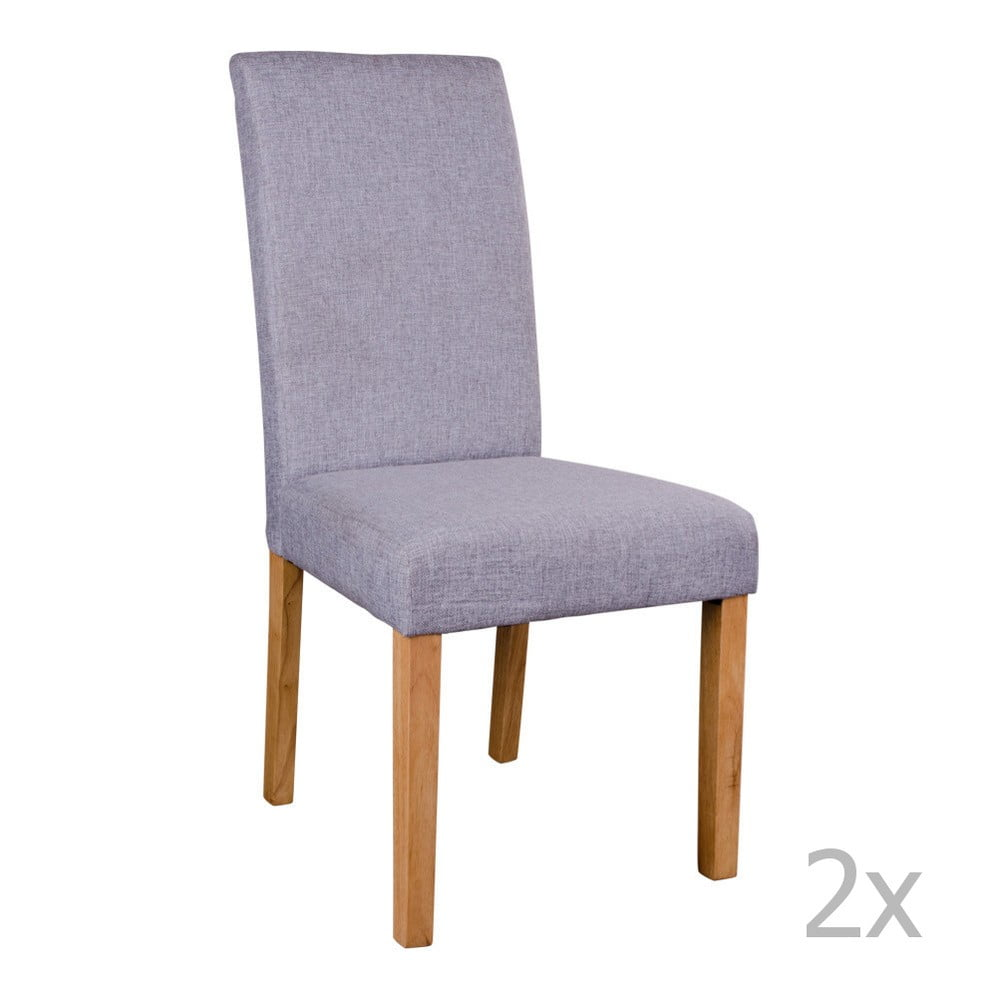 Sada 2 šedých židlí House Nordic Mora