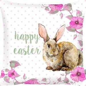 Povlak na polštář Apolena Rabbit Wishes Happy Easter, 43x43cm