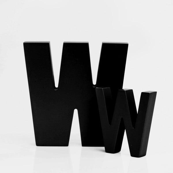 """Malé """"w"""" 8x8 cm, černá"""