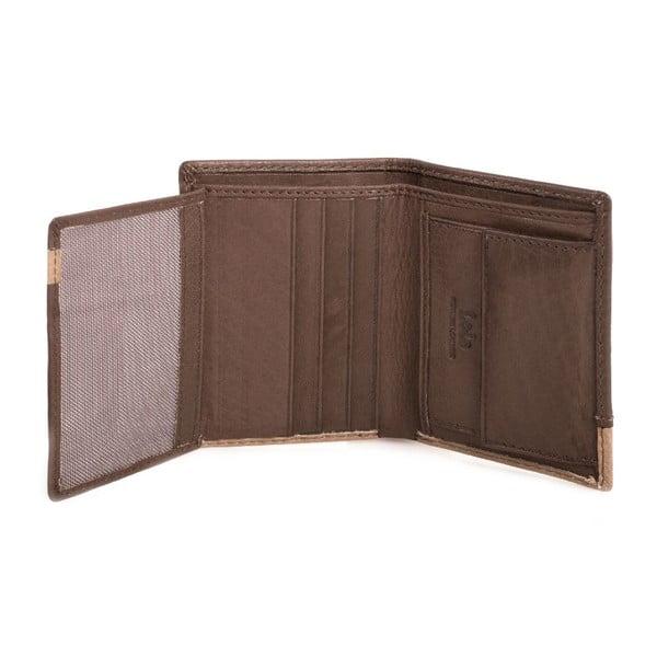 Kožená peněženka Lois Brownie, 8,5x10,5 cm