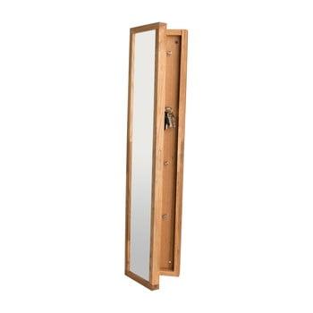 Dulap din lemn de stejar cu oglindă și încuietoare Rowico Sol imagine