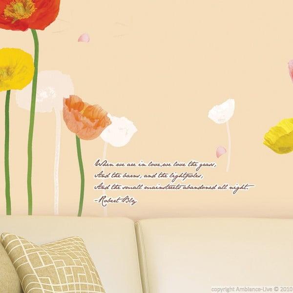 Samolepka Ambiance Poppies Flowers