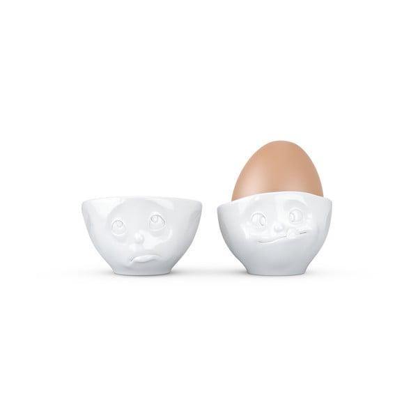 Sada 2 bílých kalíšků na vajíčka 58products Oh Please