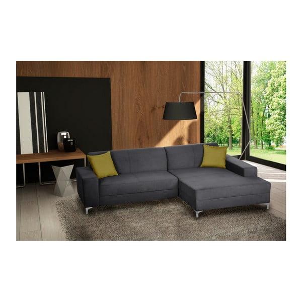 Canapea cu șezut pe partea dreaptă Florenzzi Bossi, gri antracit
